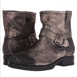 Frye Veronica metallic gold leather booties